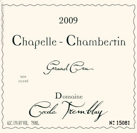 Domaine Cécile Tremblay Chapelle-Chambertin Grand Cru  label