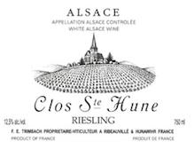 Trimbach Riesling Clos Sainte Hune label