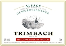 Trimbach Gewürztraminer SGN label