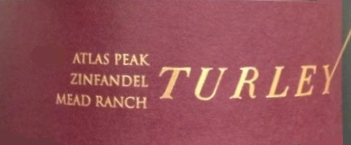 Turley Wine Cellars Mead Ranch Zinfandel label