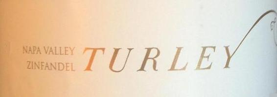 Turley Wine Cellars Zinfandel label