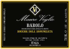 Mauro Veglio Barolo Rocche dell'Annunziata label