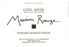 Domaine Georges Vernay Côte Rôtie Maison Rouge label