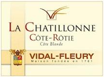 Vidal-Fleury Côte Rôtie La Chatillonne label