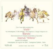 Vietti Barolo Villero Riserva label