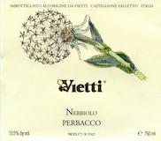 Vietti Langhe Nebbiolo Perbacco label