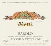 Vietti Barolo Rocche di Castiglione (formerly Rocche) label