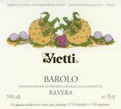 Vietti Barolo Ravera label