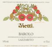 Vietti Barolo Lazzarito label