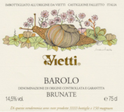 Vietti Barolo Brunate label