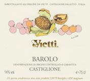 Vietti Barolo Castiglione label