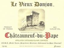 Le Vieux Donjon Châteauneuf-du-Pape  label