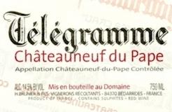 Domaine du Vieux Télégraphe Châteauneuf-du-Pape Télégramme label