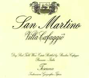Villa Cafaggio Chianti Classico Basilica San Martino Riserva label
