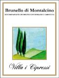 Villa i Cipressi Brunello di Montalcino  label