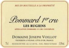 Domaine Joseph Voillot Pommard Premier Cru Les Rugiens label