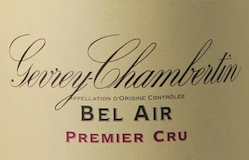 Domaine de la Vougeraie Gevrey-Chambertin Premier Cru Bel Air label