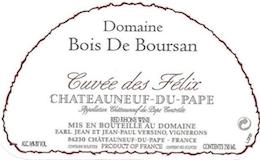 Domaine Bois Boursan Châteauneuf-du-Pape Cuvée des Félix label