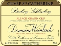 Domaine Weinbach Riesling Schlossberg Cuvée Sainte Catherine Grand Cru label