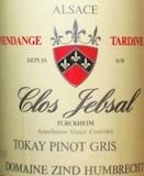 Domaine Zind-Humbrecht Jebsal Pinot Gris VT label