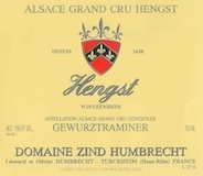 Domaine Zind-Humbrecht Hengst Gewürztraminer Grand Cru label