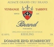 Domaine Zind-Humbrecht Riesling Brand VT Grand Cru label