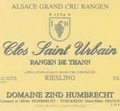 Domaine Zind-Humbrecht Clos Saint Urbain Rangen de Thann Riesling Grand Cru label
