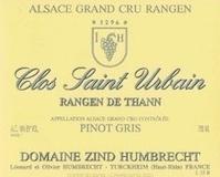 Domaine Zind-Humbrecht Clos Saint Urbain Rangen de Thann Pinot Gris Grand Cru label