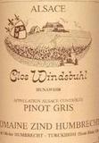 Domaine Zind-Humbrecht Clos Windsbuhl Pinot Gris label