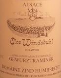 Domaine Zind-Humbrecht Windsbuhl Gewürztraminer label