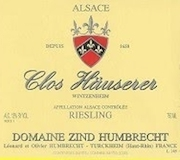 Domaine Zind-Humbrecht Hauserer Riesling label