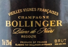 Bollinger Vieilles Vignes Françaises Grand Cru label