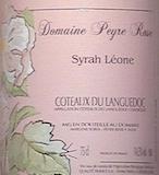 Domaine Peyre Rose Syrah Léone label