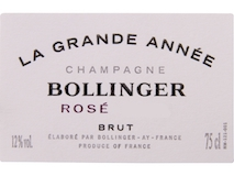 Bollinger Grande Année Rosé label