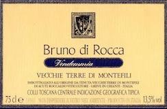 Vecchie Terre di Montefili Bruno di Rocca label