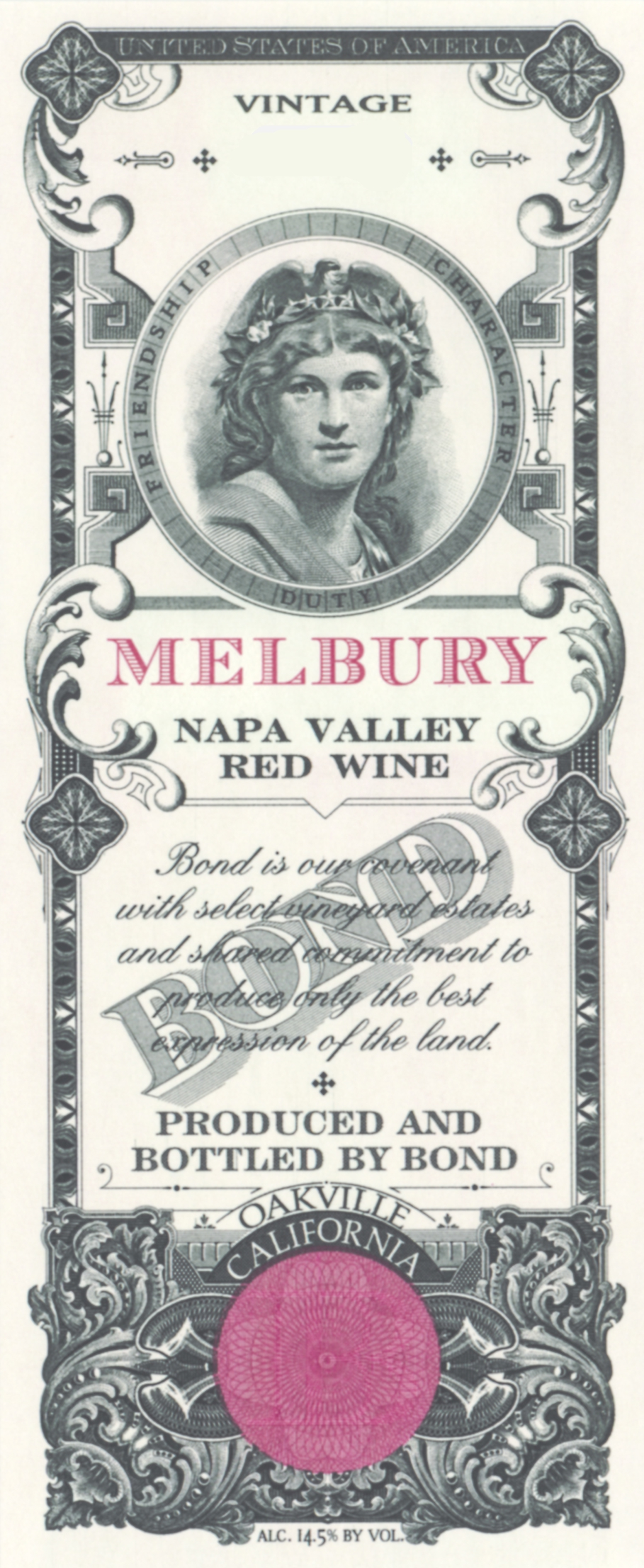 Bond Melbury label