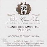 Domaine Albert Boxler Pinot Gris Sommerberg SGN Grand Cru label