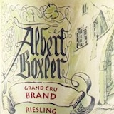 Domaine Albert Boxler Riesling Brand Grand Cru label