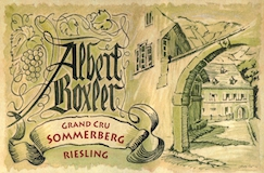 Domaine Albert Boxler Riesling Sommerberg Grand Cru label