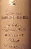 Domaine Marcel Deiss Gewürztraminer Quintessence SGN label