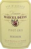 Domaine Marcel Deiss Pinot Gris Altenberg de Bergheim SGN Grand Cru label