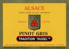 Hugel et Fils Pinot Gris Tradition label