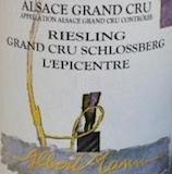 Domaine Albert Mann Riesling Schlossberg l'Epicentre Grand Cru label