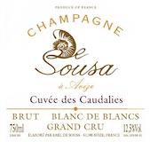 De Sousa Cuvée des Caudalies Blanc de Blancs Grand Cru label