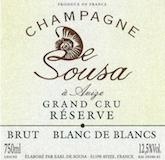 De Sousa Brut Réserve Blanc de Blancs Grand Cru label