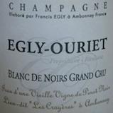 Egly-Ouriet Blanc de Noirs Les Crayères Vieilles Vignes Grand Cru label