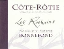 Domaine Patrick et Christophe Bonnefond Côte Rôtie Les Rochains label