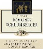 Domaine Schlumberger Cuvée Christine Gewürztraminer VT label