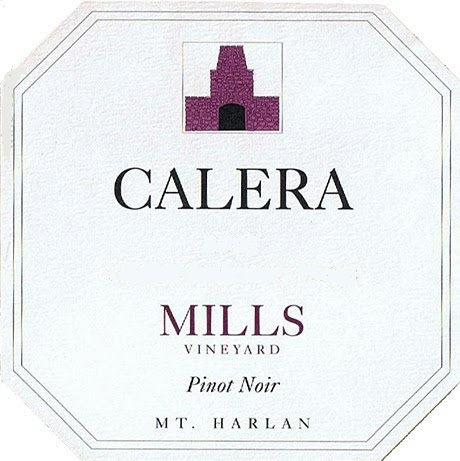 Calera Mills Vineyard Pinot Noir label