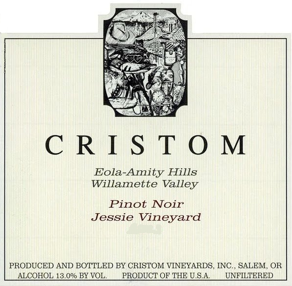 Cristom Jessie Vineyard Pinot Noir label